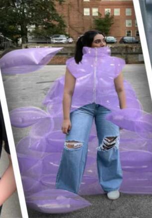 Блогерша одевается так кричаще, что подписчики никогда не знают, настоящий ли на ней костюм