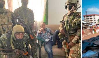 Пока в стране хаос и переворот, фото президента Гвинеи выглядит как мем «На расслабоне, на чиле»