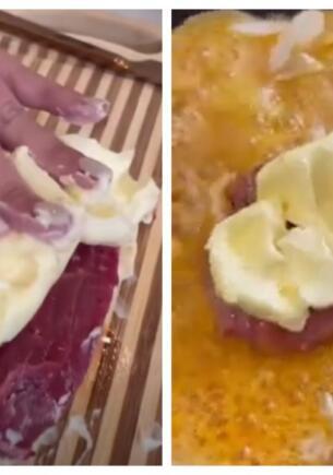 Девушка показала рецепт стейка со сливочным маслом, и жира хватит на холестериновую бомбу