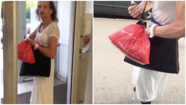 Мужчина в платье, ранивший клиентов «Магнита», и раньше угрожал людям. В ролике «Диана» с ножом