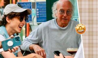 Молодой Тимоти Шаламе, пожилой Ларри Дэвид. Актёр и комик развеселили киноманов совместным обедом