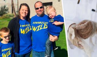 Внимательная мама заметила странный дефект на фото малыша. Забила тревогу и спасла сына от рака