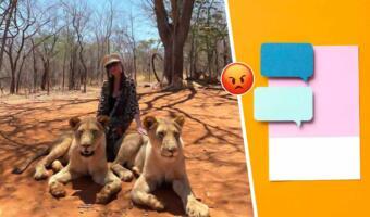 Елена Блиновская похвастала кадром со львами, а теперь объясняется. За одно фото — титул живодёрки