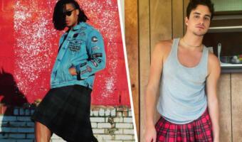 В юбке и с усами. Брутальные блогеры надевают женскую одежду и отстаивают свой стиль