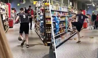 Юный блогер из Пермского края ради хайпа разбил в «Пятёрочке» пива на ₽6000, а потом помыл за собой пол