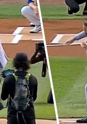 Конор Макрегор проиграл бейсбольному мячу. Провальная подача бойца на матче подарила ему насмешки