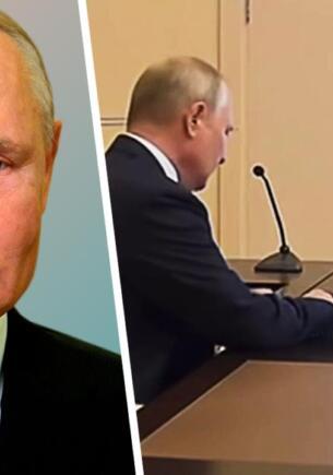 Люди в Сети строят теории, что во время голосования набирал на клавиатуре Владимир Путин. Авыф или олдж