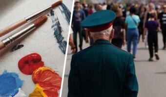 Паблик о ветеранах идёт войной на художника из РФ. На холсте — зомби, а люди видят «Бессмертный полк»