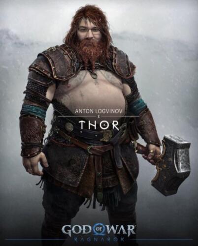 Могучий Тор из игры God of War попал в руки мемоделов и превратился в Жириновского и Обеликса