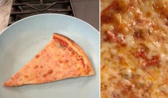 Как разогреть пиццу, чтобы тесто было мягким и сыр остался вкусным? Лёгкий лайфхак без микроволновки