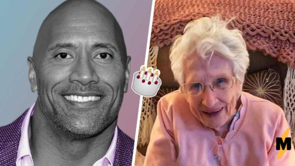 Дуэйн Джонсон трогательно поздравил 103-летнюю фанатку с днём рождения, вызвав у старушки восторг