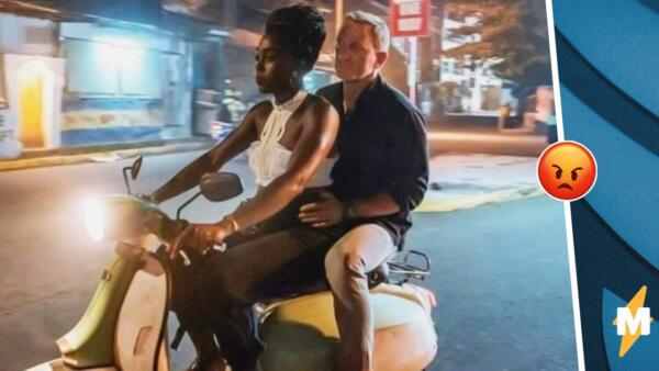 Девушка покатала Джеймса Бонда на скутере и разделила Сеть. Западные фанаты негодуют, а рунет за неё