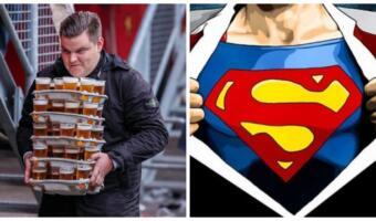Футбольный фанат пронёс на матч 48 бокалов пива за один заход и стал супергероем в глазах зрителей