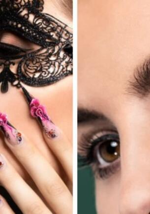 Как нарисовать идеальные стрелки на глазах. Блогеры показывают лёгкий лайфхак с длинными ногтями