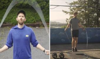 Блогер узнал, что будет, если каждый день прыгать со скакалкой. Пресс без похода в спортзал и диет