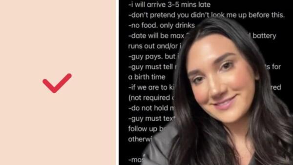 Не есть, не врать, знать дату рождения. Девушка составила очень строгие правила для первого свидания