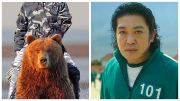 """Хо Сон-тхэ из """"Игры в кальмара"""" в сторис фанатов стал президентом. Верхом на медведе покоряет тайгу"""