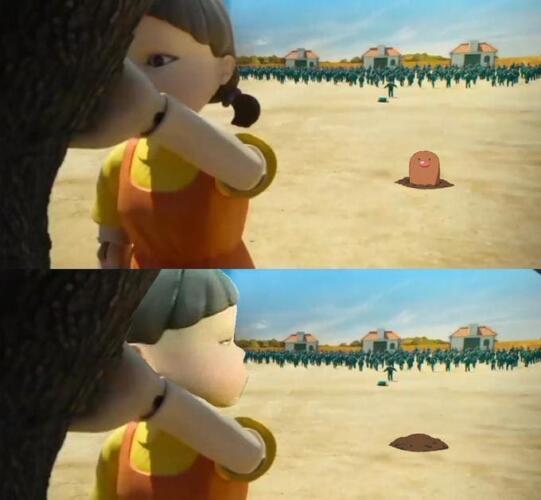 """Кукла из """"Игры в кальмара"""" ворвалась в мемы и перестала пугать людей. Была криповой, стала забавной"""
