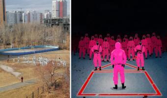 В Сети спорят из-за косплея «Игры в кальмара» в Екатеринбурге. Лучше бы выбрали «Зарницу» и «Лапту»?