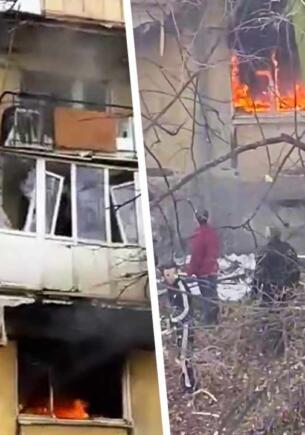 Как спасались жители Балтийска после мощного взрыва в доме. Бросали детей из окон на фоне огня