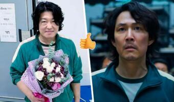 Хо Сон-тхэ из «Игры в кальмара» в мемах фанатов то милый, то крутой парень. Взял букет и всех покорил