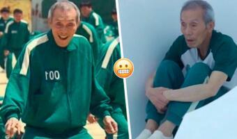 Что за фото с грустным стариком в зелёном костюме. Герой «Игры в кальмара» теперь мем про до и после