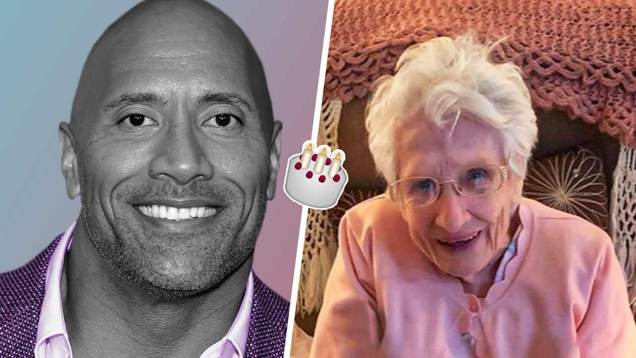 Дуэйн Джонсон растрогал и засмущал старушку видеозвонком. Лучший подарок на 102-летие