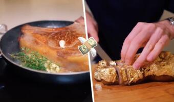 Как приготовить «золотой» стейк повара-мема Salt Bae? Блогер запёк мясо, удешевив блюдо в 35 раз