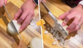 Как нарезать лук ровными кубиками без лишних страданий. Лайфхак от кулинарши озадачил поваров