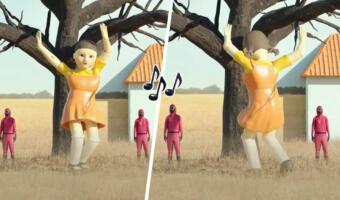 Кукла из сериала «Игра в кальмара» танцует под армянскую музыку в новом тренде и пугает фанатов шоу